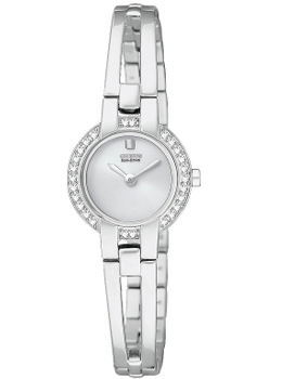 Citizen Ladies Silhouette Crystal Bangle Silver Dial Watch