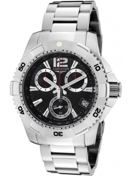 Longines Men's HydroConquest Chronograph Black Dial Stainless St