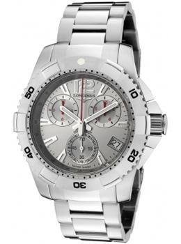 Longines Men's HydroConquest Chronograph Silver Dial Stainless S